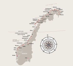 Hurtigruten - carte express cotier
